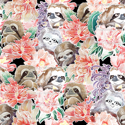 Because Sloths Watercolor