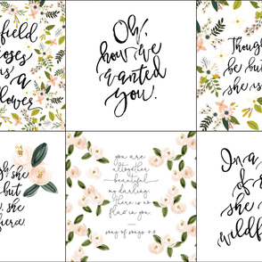 6 loveys: mix of girly quotes