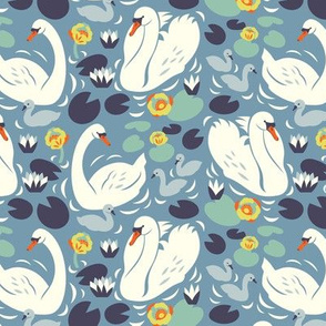 Swan family pattern