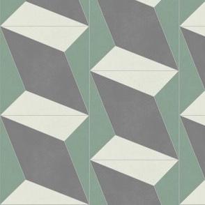 Green + Gray Diamond