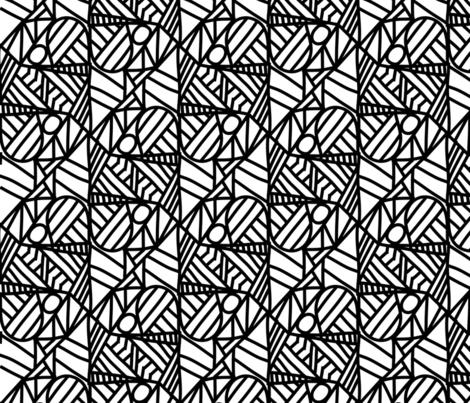 mirrored halfdrop triangles template fabric suziedesign spoonflower