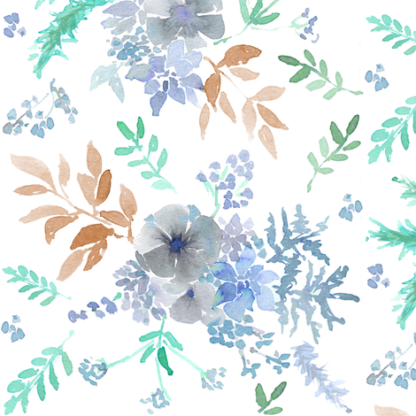 frosty floral fabric by erinanne on Spoonflower - custom fabric