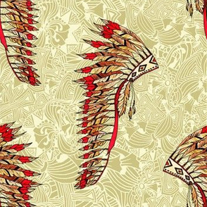 Indian Tribal Warbonnet Pattern