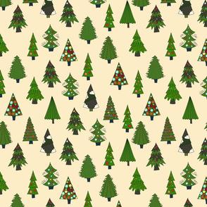 Christmas Tree Farm Ivory