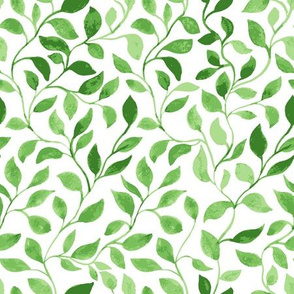 Green Leaves classic foliage pattern