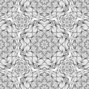 Outline Mandalas Black and White