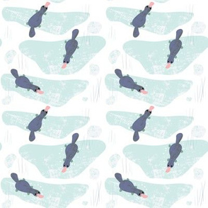 Platypus fabric (small) by Mount Vic and Me