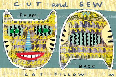 """12"""" tigercat pillow"""