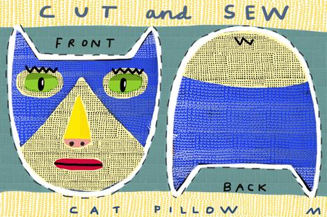 "12"" tuxedo cat fabric by kimmurton on Spoonflower - custom fabric"