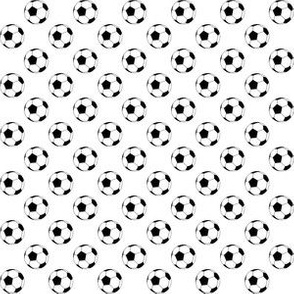 Half Inch Black and White Soccer Balls on White