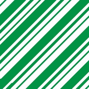 Christmas Candy Cane Stripes Green White Stripe Cute Holiday Stripes 01