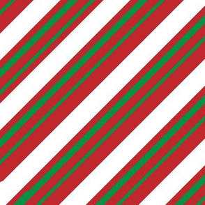 Christmas Candy Cane Stripes Green White Red Stripe Cute Holiday Stripes 01