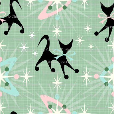 Retro Cats, Boomerangs, & Starbursts