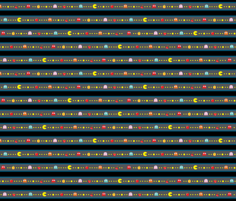 Pacman Pattern Abstract Stripes Grey-01 fabric by khaus on Spoonflower - custom fabric