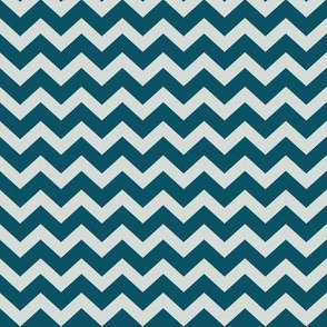 """1"""" Teal and Pale Mint Green Chevron Pattern K073"""