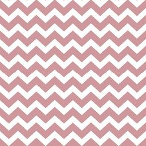"1"" Blush Pink and White Chevron Pattern K073"