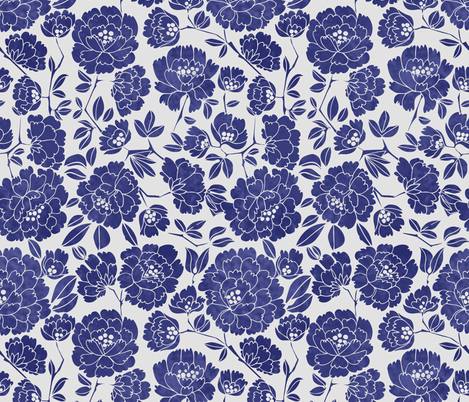 CHINES ROSE BLUE fabric by gomboc on Spoonflower - custom fabric
