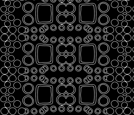 Rolling Stripes in Black and White fabric by robin_rice on Spoonflower - custom fabric