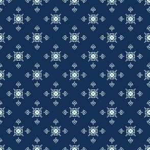 Traditional Indigo Blue Japanese Quilting Fabric Style