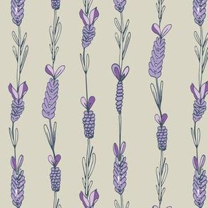 Lavender field purple taupe silver