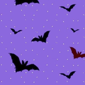 Bats in a Purple Night (larger)