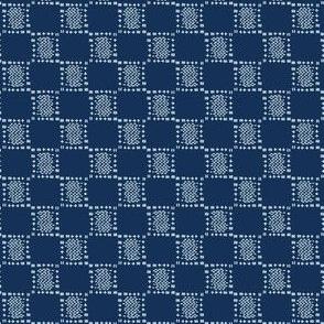 Square Motif Sashiko Style Japanese Needlework