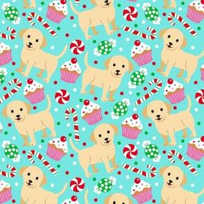 Christmas Labrador - Teal