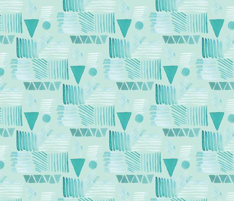 emerald geo light 2 fabric by rachael_king on Spoonflower - custom fabric