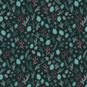 Wintertime Branches Teal