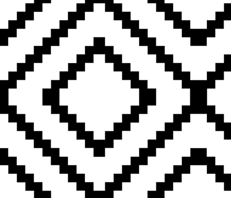 Navajo Hills - large scale black and white fabric by kae50 on Spoonflower - custom fabric