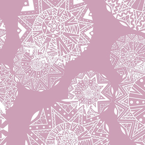 Shapes and Lines Jumbo White On Pink