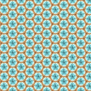 Holiday Dot - Blue-Ochre