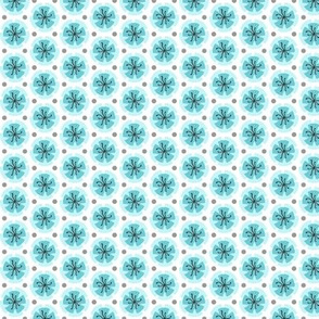 Holiday Dot - Blue-White
