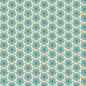 Holiday Dot - Ochre-Lt Blue