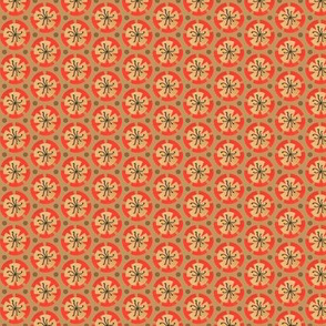 Holiday Dot-Orange - Ochre