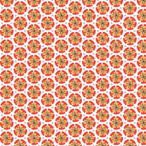Holiday Dot - Orange-White