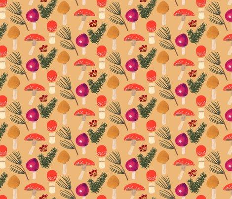 Rwinter-holiday-holiday-mushrooms-ochre-12x6-600dpi_shop_preview