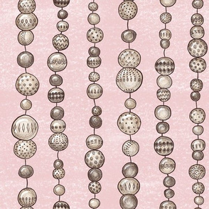 String Of Wooden Beads (blush)