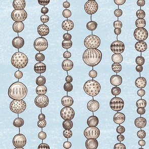 String Of Wooden Beads (dusty blue)