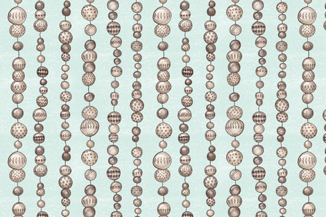 String Of Wooden Beads (spearmint) fabric by helenpdesigns on Spoonflower - custom fabric