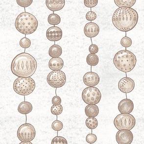 String Of Wooden Beads (off-white) V2