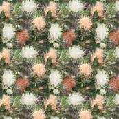 Festive blossom hedge