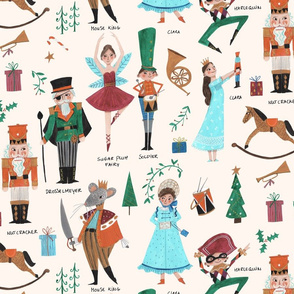 Christmas Nutcracker // red & green little girls fabric