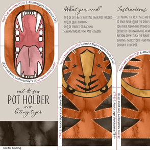 Biting Tiger / Cut-and-Sew Pot Holder
