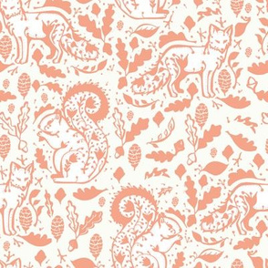 fox florals in coral