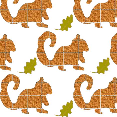 squirrel-ch fabric by lucy_feeney on Spoonflower - custom fabric
