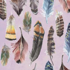 Boho-Feathers-Pattern