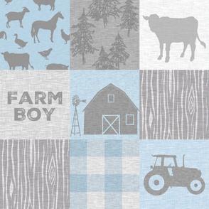 Farm Boy Quilt - baby blue.grey