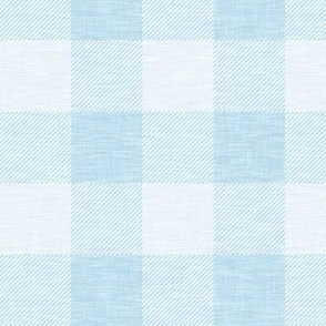 Buffalo Check - sky blue linen