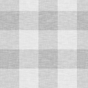 "2"" Farm Grey Buffalo Check - grey linen"